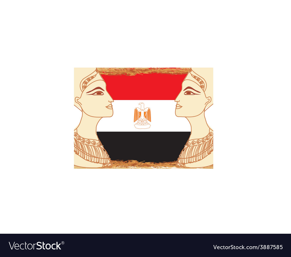 Egyptian queen cleopatra on the background of the vector | Price: 1 Credit (USD $1)