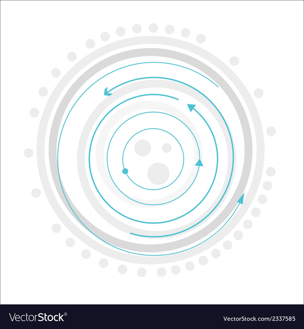 Gray circles with blue arrows vector | Price: 1 Credit (USD $1)