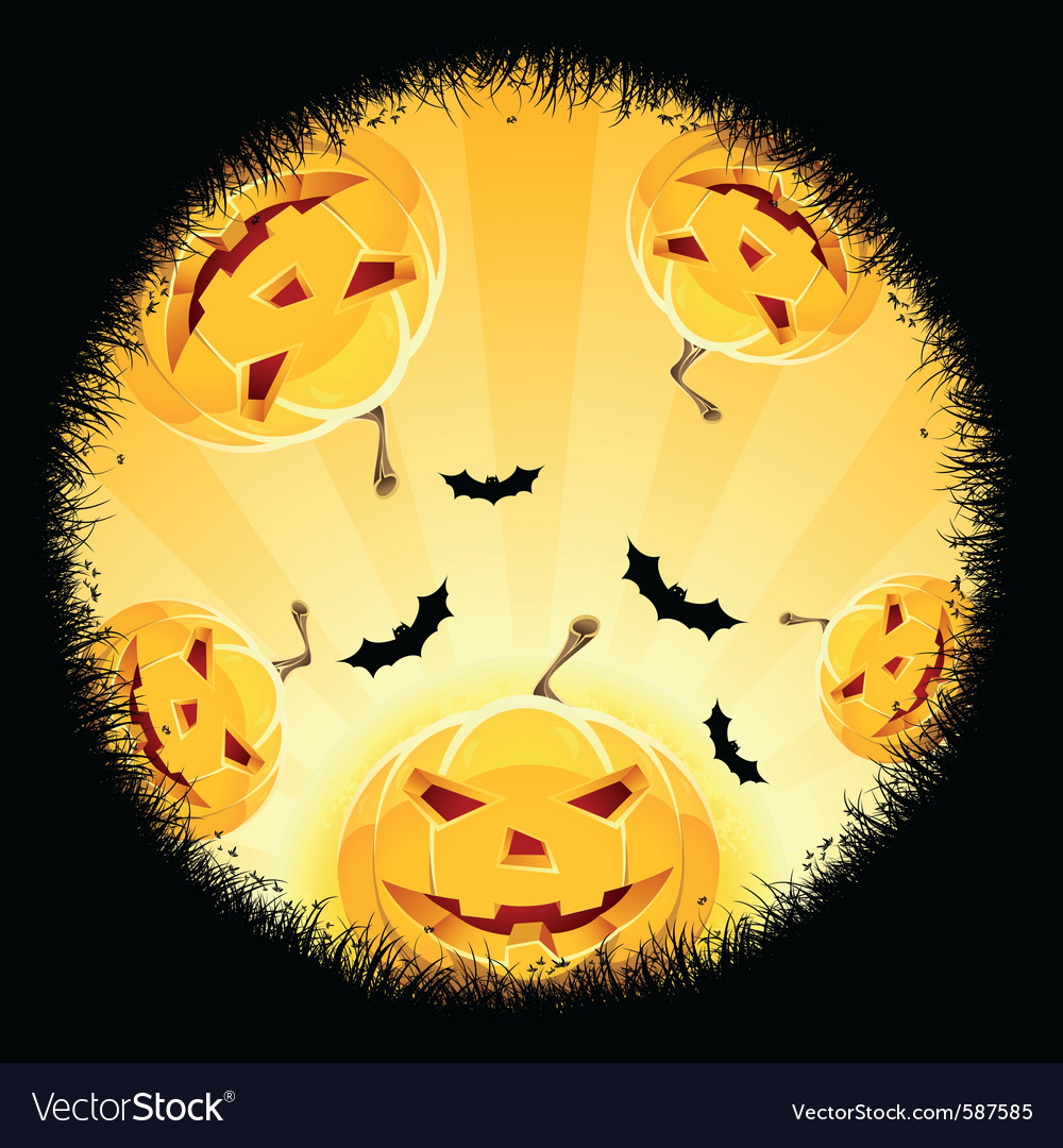 Halloween pumpkin background vector | Price: 3 Credit (USD $3)