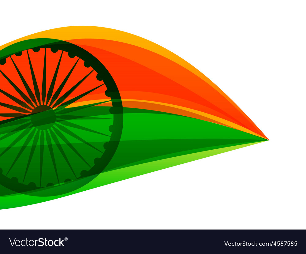 Indian flag made with tricolor in a leaf style vector | Price: 1 Credit (USD $1)