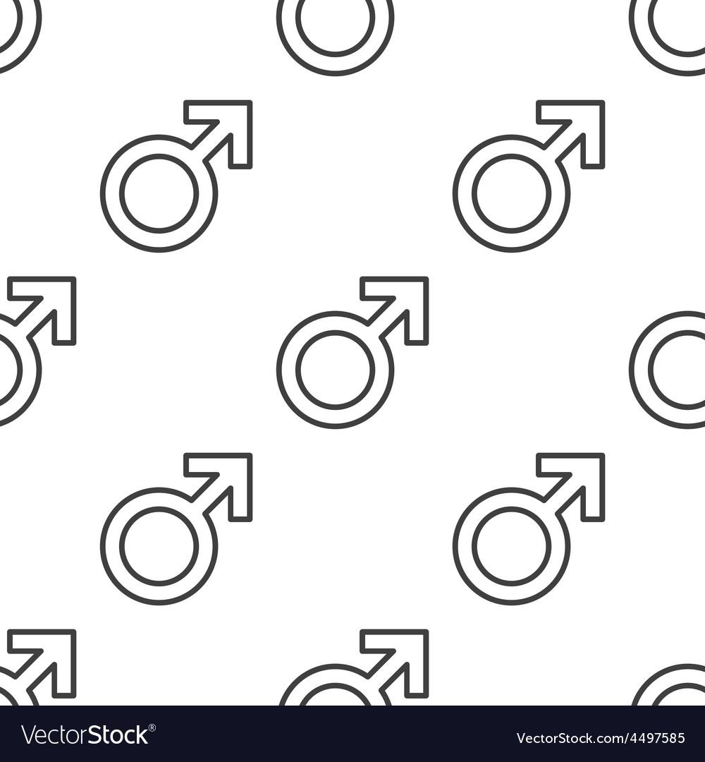 Male symbol seamless pattern vector | Price: 1 Credit (USD $1)