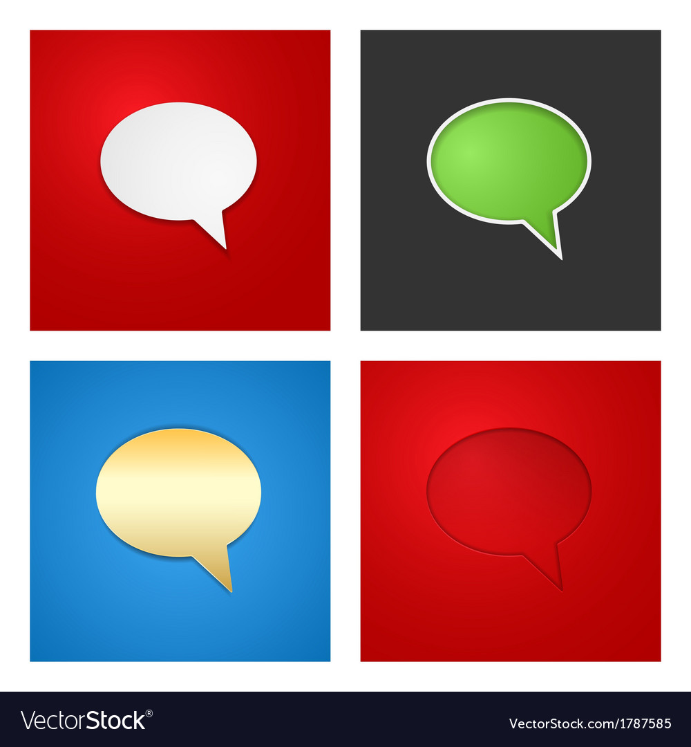 Speech bubble background set vector | Price: 1 Credit (USD $1)