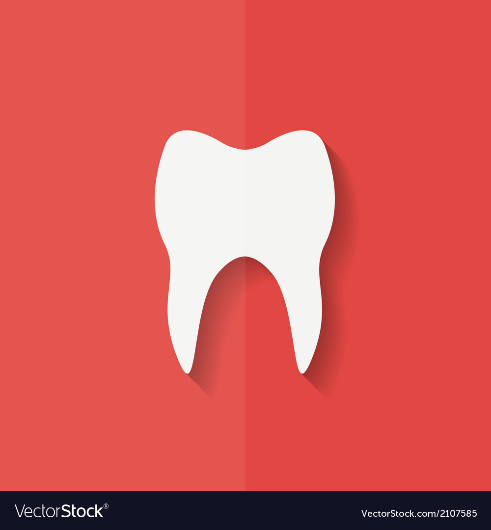 Tooth web icon flat design vector | Price: 1 Credit (USD $1)