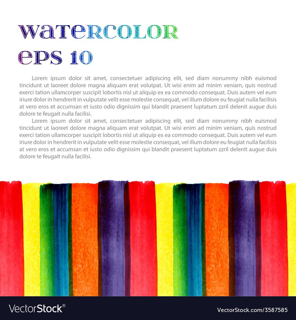 Watercolor template vector | Price: 1 Credit (USD $1)