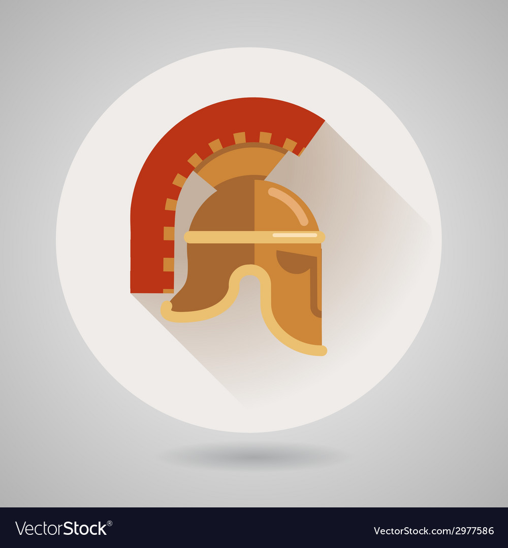 Ancient helmet flat logo vector | Price: 1 Credit (USD $1)