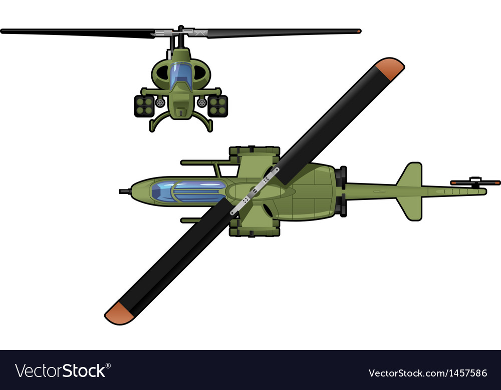 Attack helicopter vector | Price: 3 Credit (USD $3)