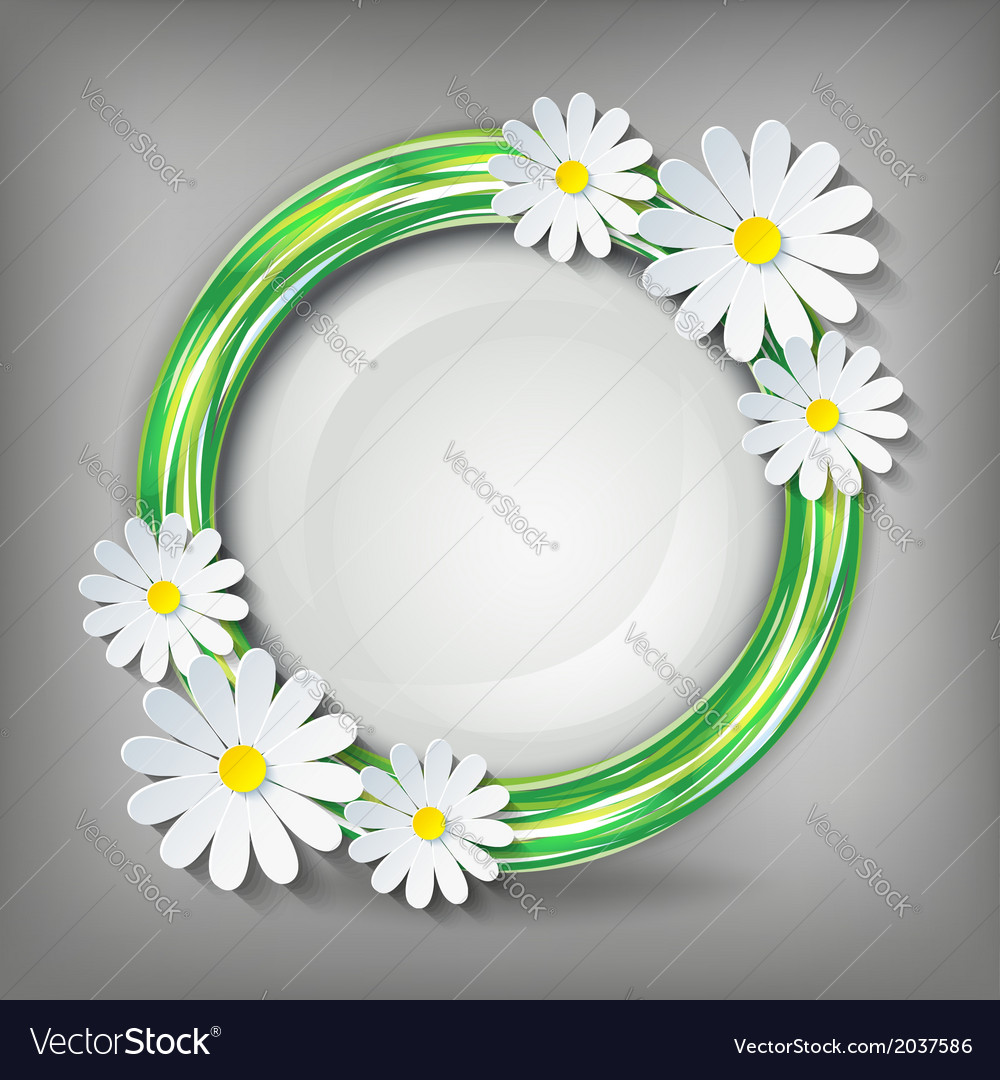 Eco conceptual background with 3d chamomile vector   Price: 1 Credit (USD $1)