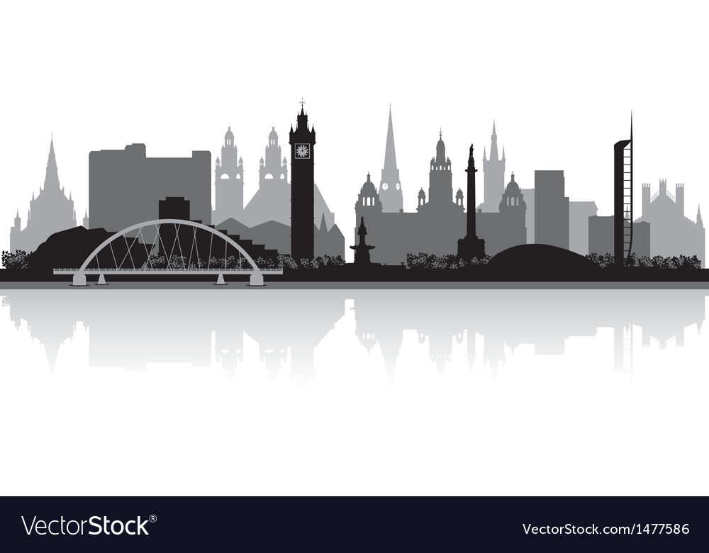Glasgow city skyline silhouette vector | Price: 1 Credit (USD $1)
