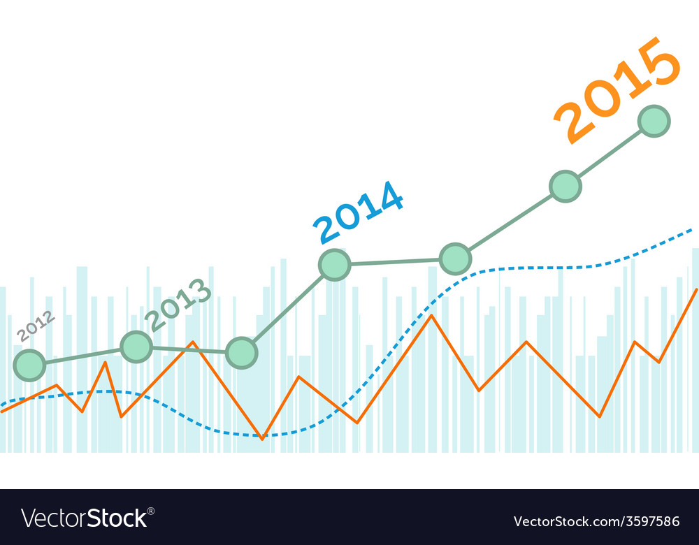 Grow up graph 2015 year vector | Price: 1 Credit (USD $1)