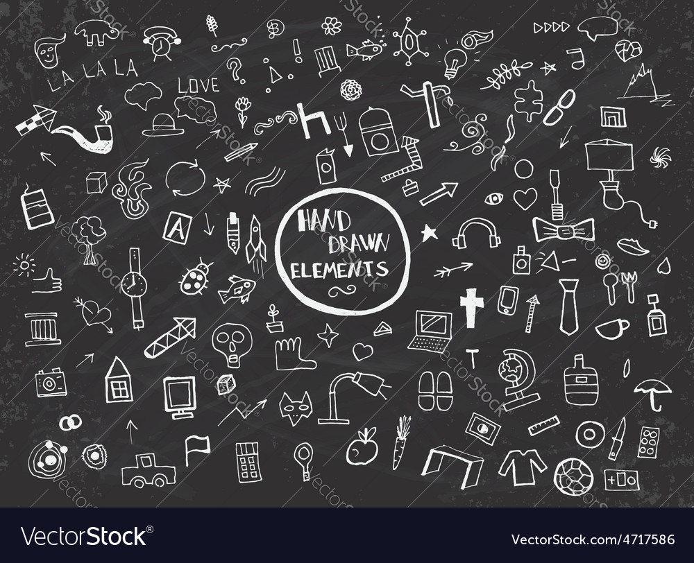 Hand drawn elements vector | Price: 1 Credit (USD $1)