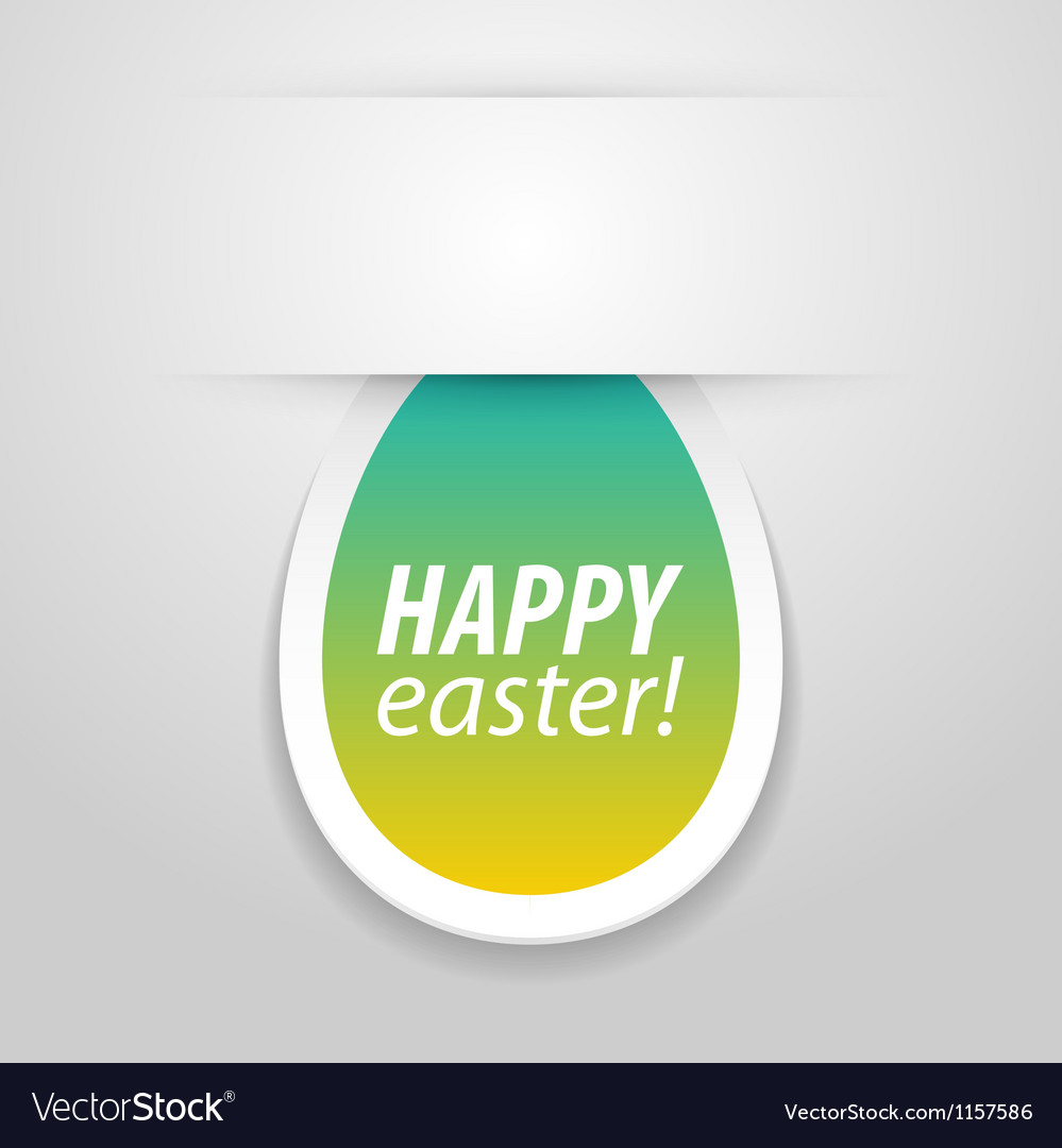 Happy easter tag vector | Price: 1 Credit (USD $1)