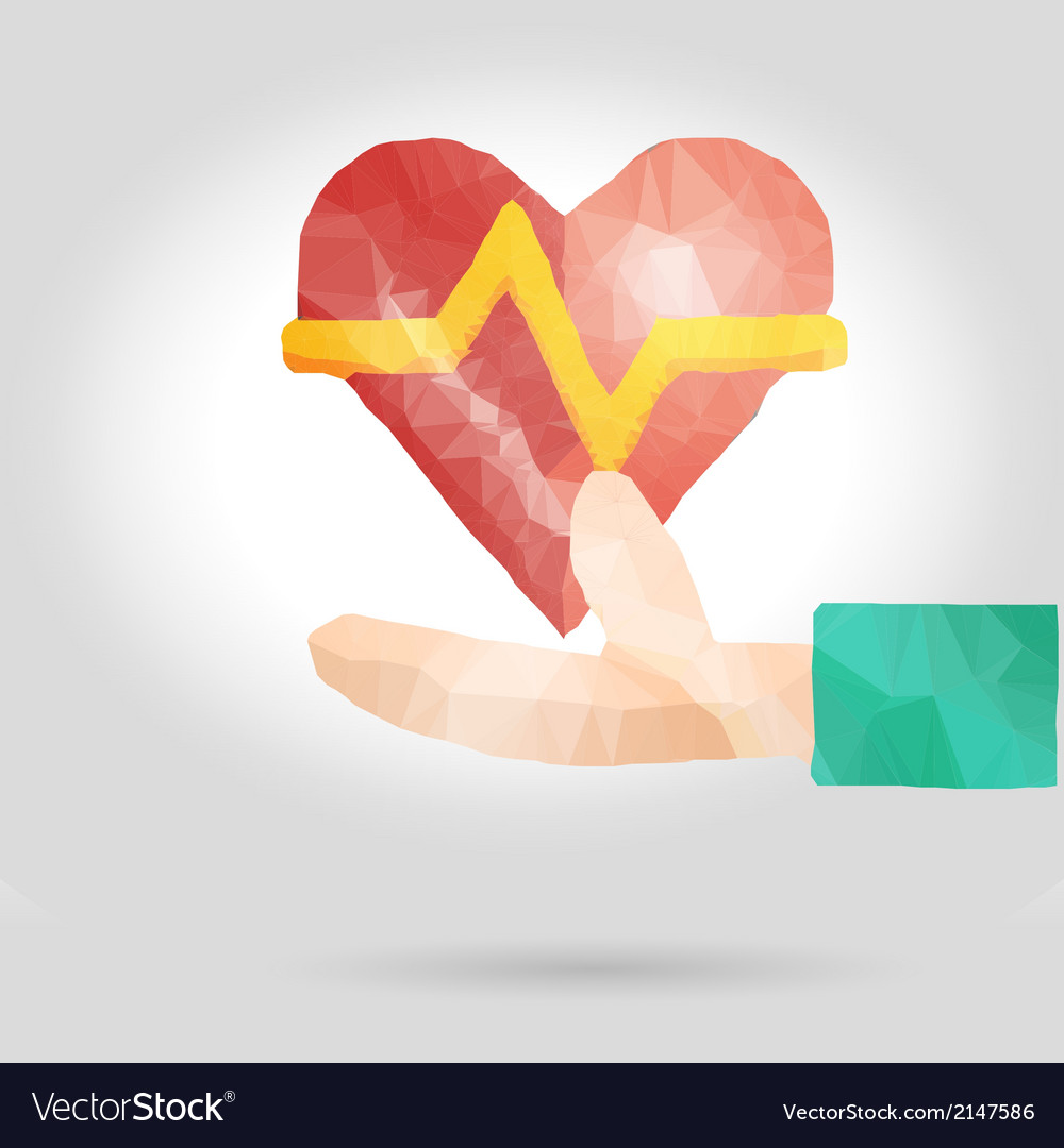 Health insurance or love concept vector | Price: 1 Credit (USD $1)