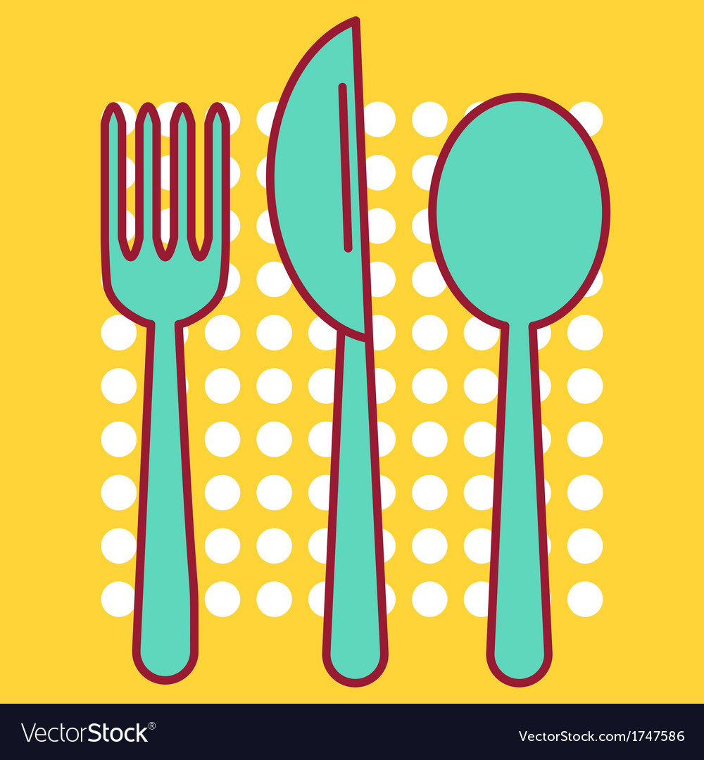 Knife fork and tablespoon vector | Price: 1 Credit (USD $1)