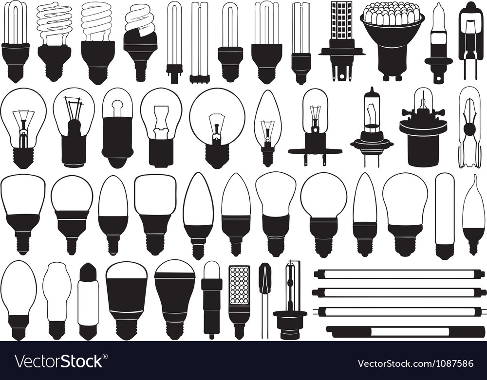 Light bulbs set vector | Price: 1 Credit (USD $1)