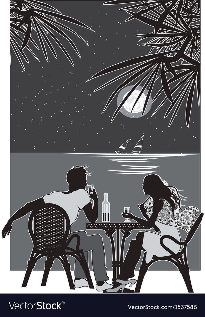 Night romance vector | Price: 1 Credit (USD $1)