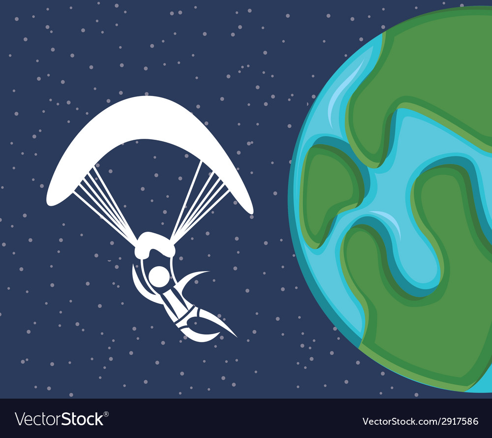 Paragliding vector | Price: 1 Credit (USD $1)