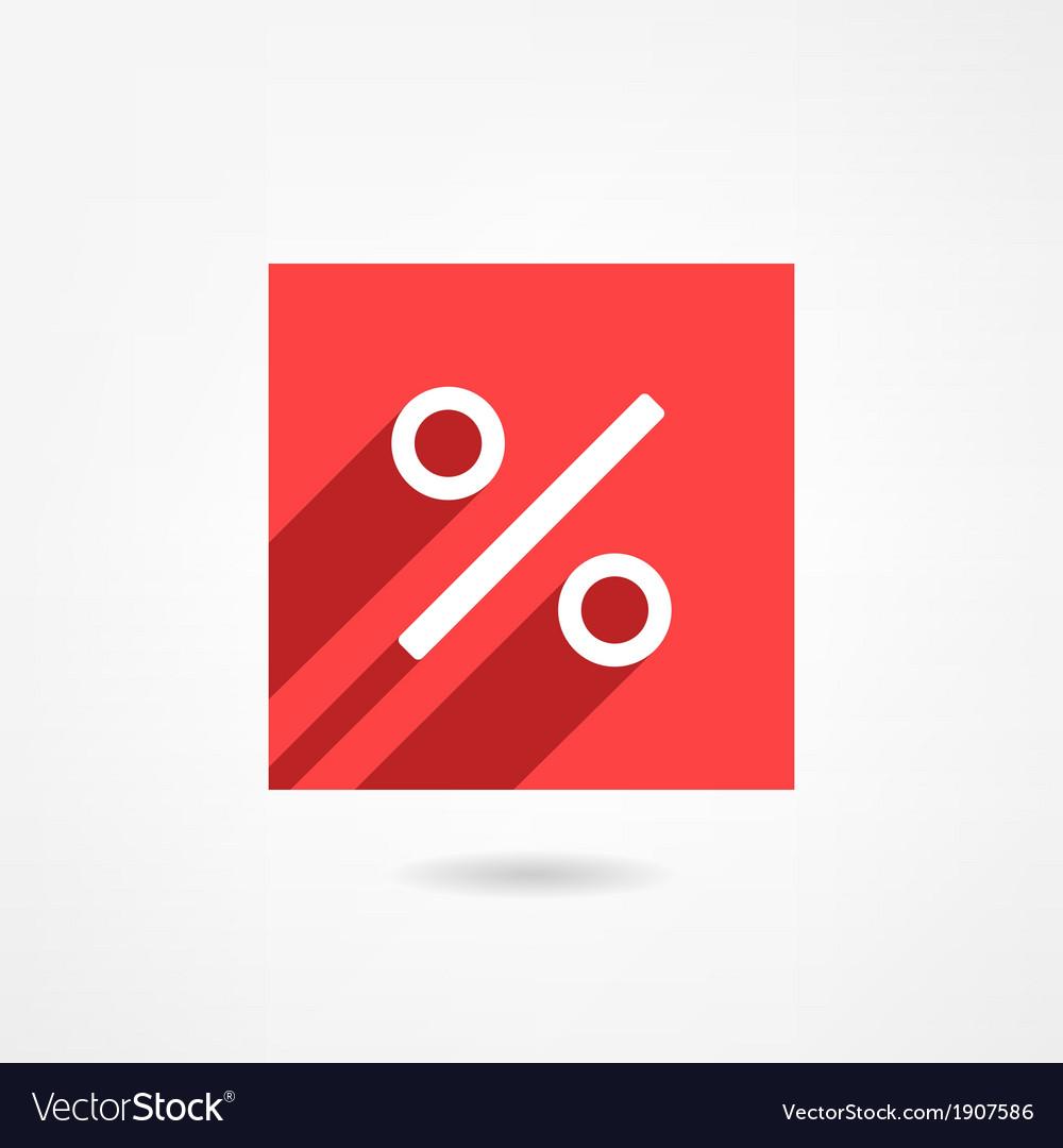 Percent icon vector | Price: 1 Credit (USD $1)