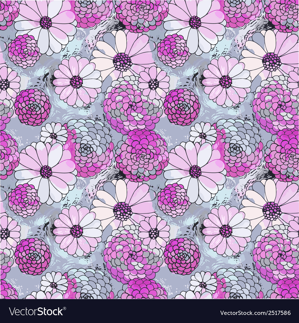 Seamless floral texture vector | Price: 1 Credit (USD $1)