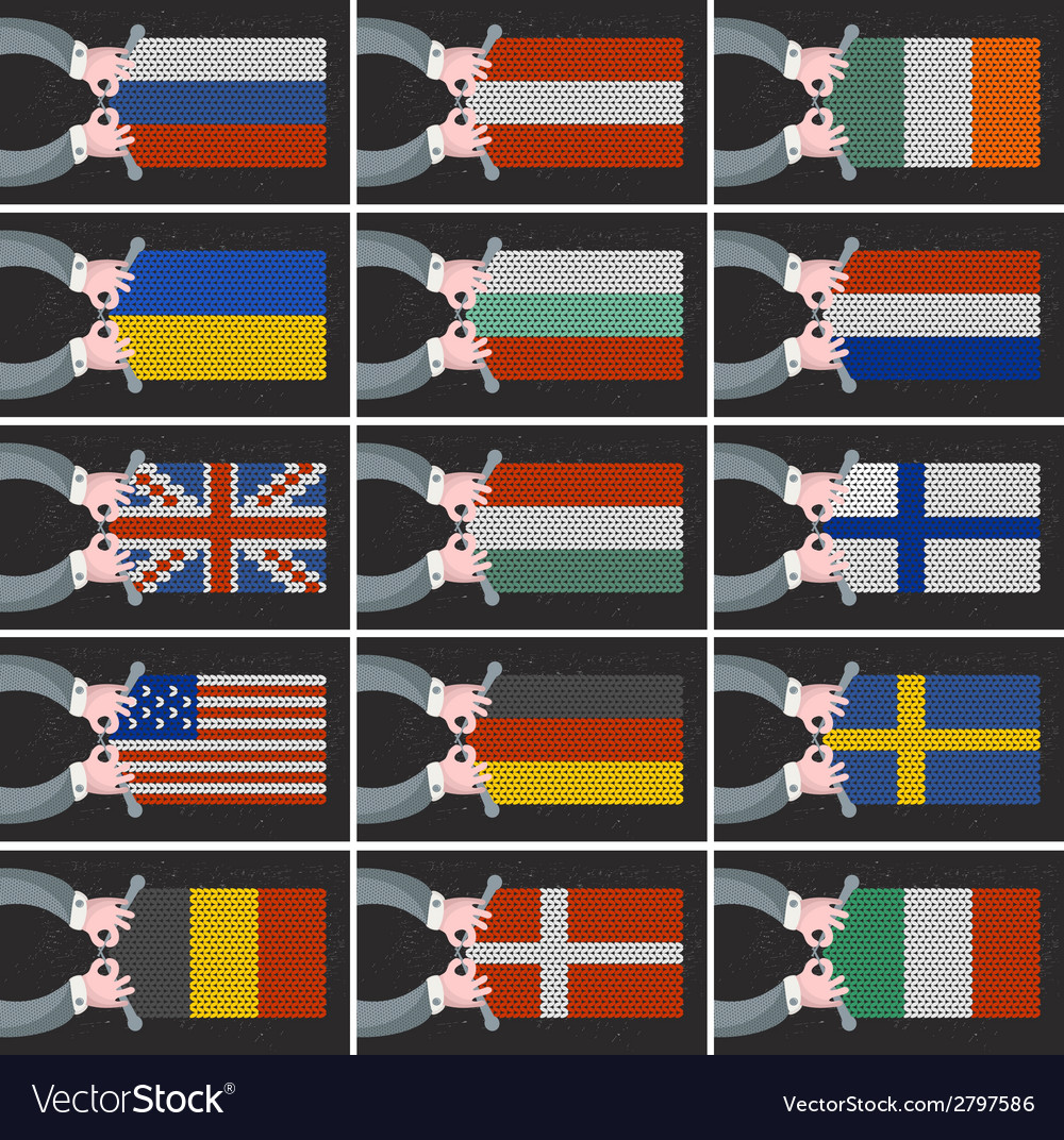 Set of flags of different countries vector | Price: 1 Credit (USD $1)