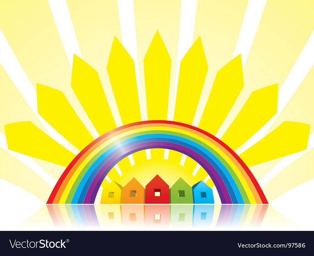 Under the rainbow vector | Price: 1 Credit (USD $1)