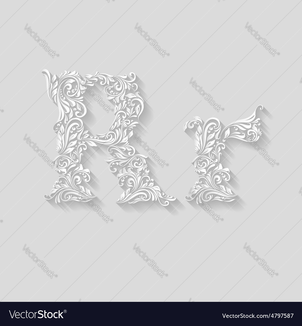 Decorated letter r vector | Price: 1 Credit (USD $1)