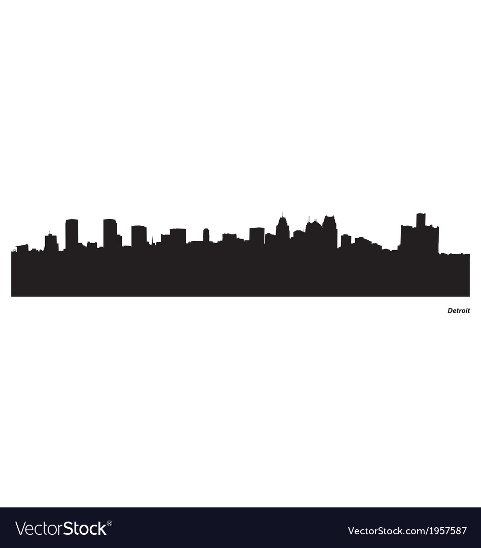 Detroit skyline vector | Price: 1 Credit (USD $1)