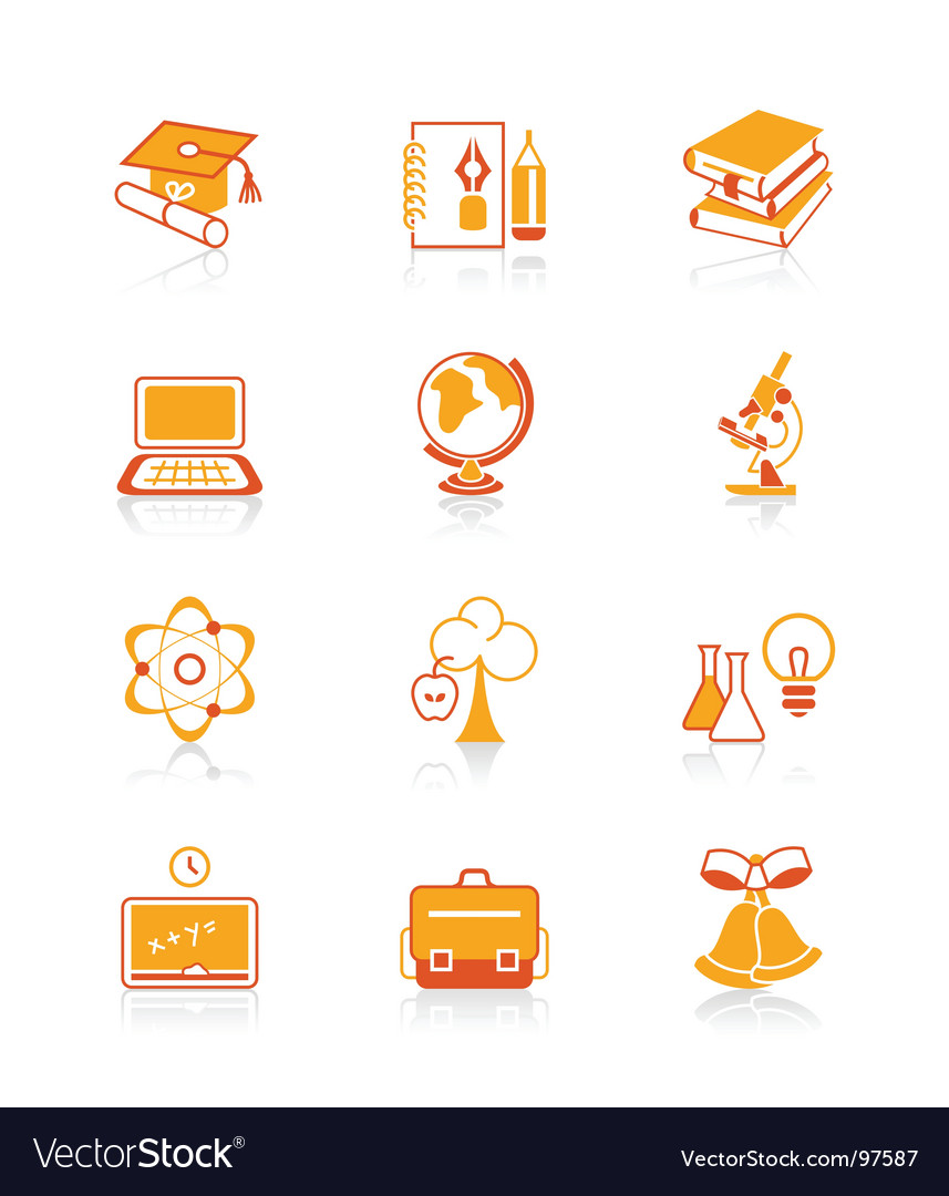 Education objects icons  juicy series vector   Price: 1 Credit (USD $1)