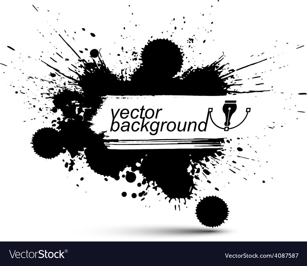 Ink splash monochrome seamless pattern with vector | Price: 1 Credit (USD $1)