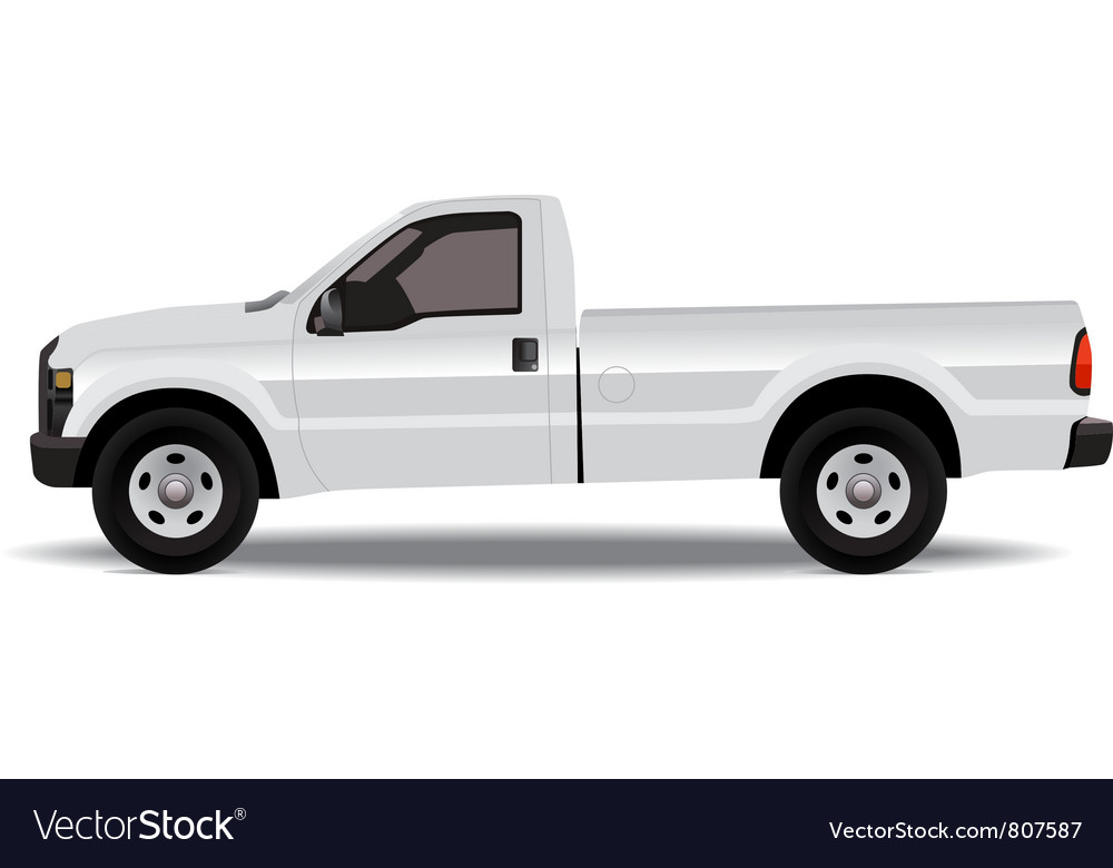 Pick-up truck vector | Price: 3 Credit (USD $3)