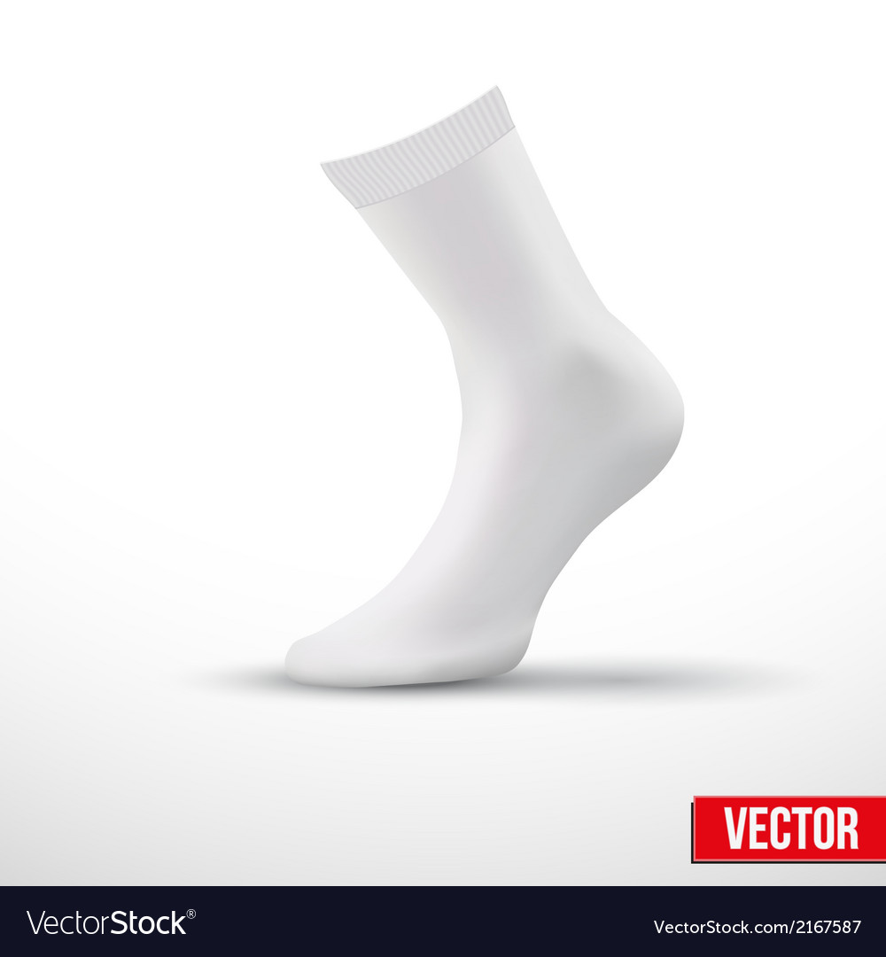 Realistic layout of white socks a simple example vector | Price: 1 Credit (USD $1)