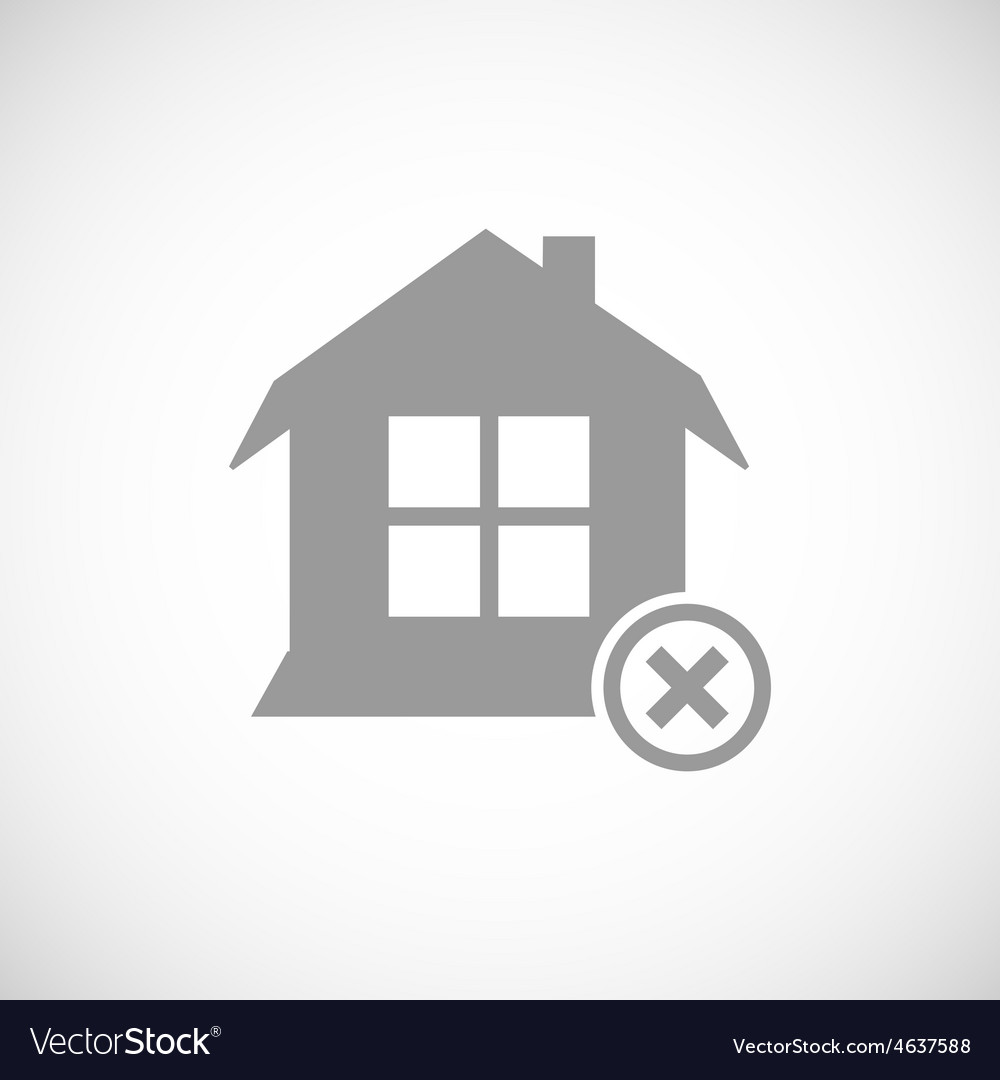 Abandoned house icon vector | Price: 1 Credit (USD $1)