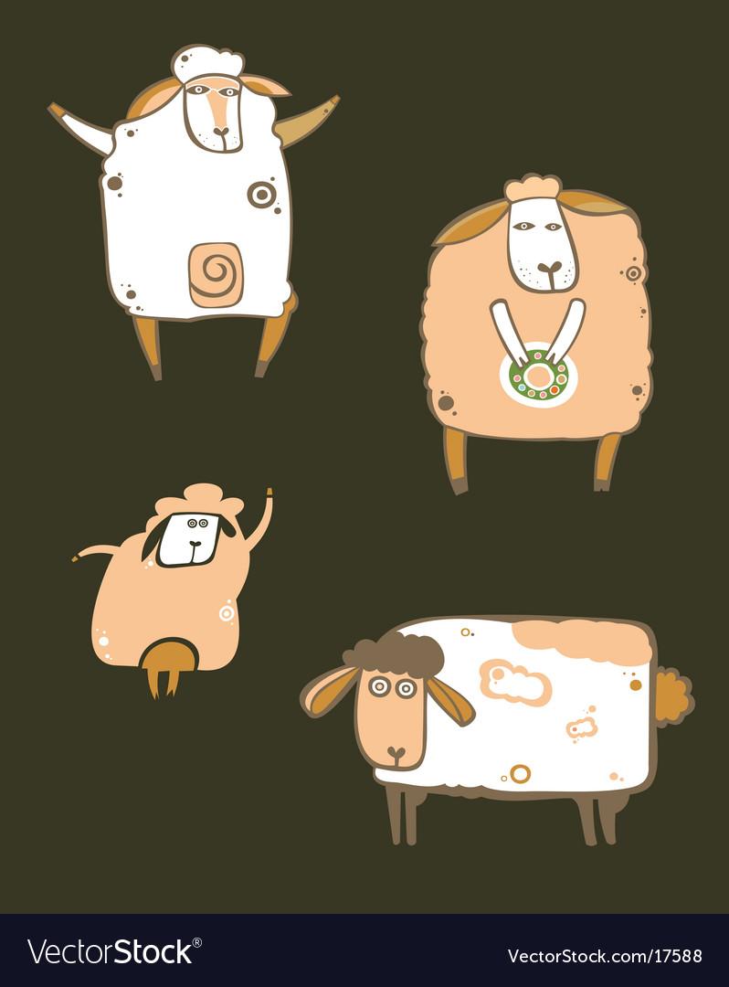Coffee sheep vector | Price: 3 Credit (USD $3)