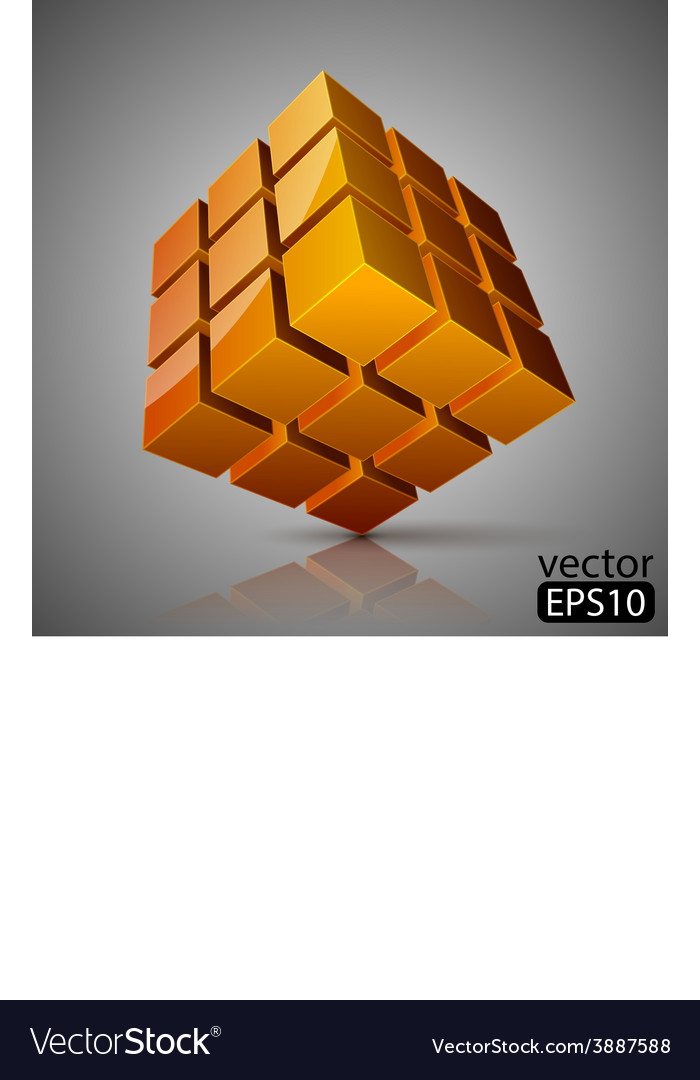 Cube 3d vector | Price: 1 Credit (USD $1)