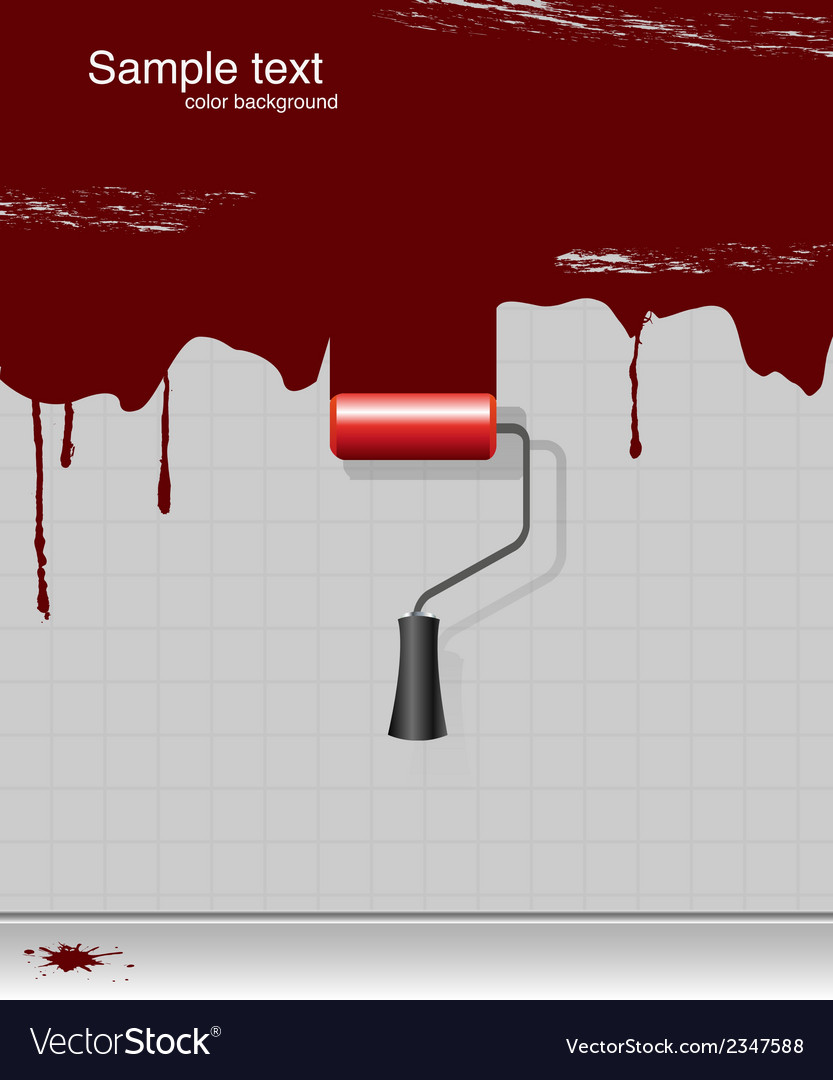 Drawing paint-roller vector   Price: 1 Credit (USD $1)