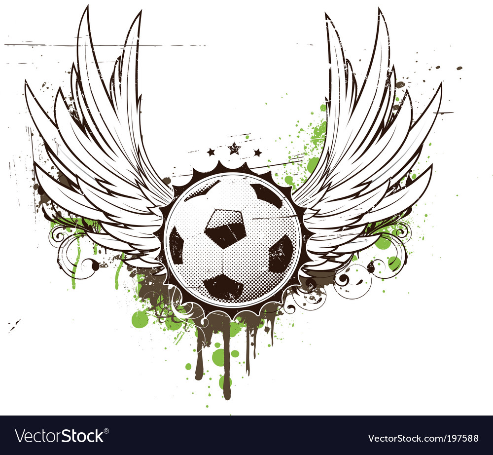 Football insignia vector | Price: 1 Credit (USD $1)