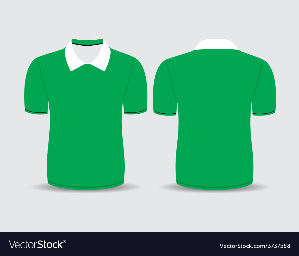 Green polo t shirt vector | Price: 1 Credit (USD $1)