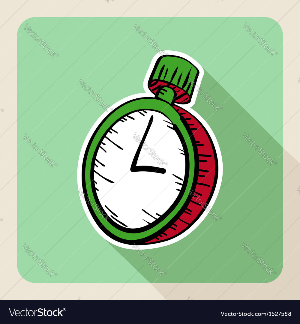 Hand drawn real estate concept watch vector | Price: 1 Credit (USD $1)