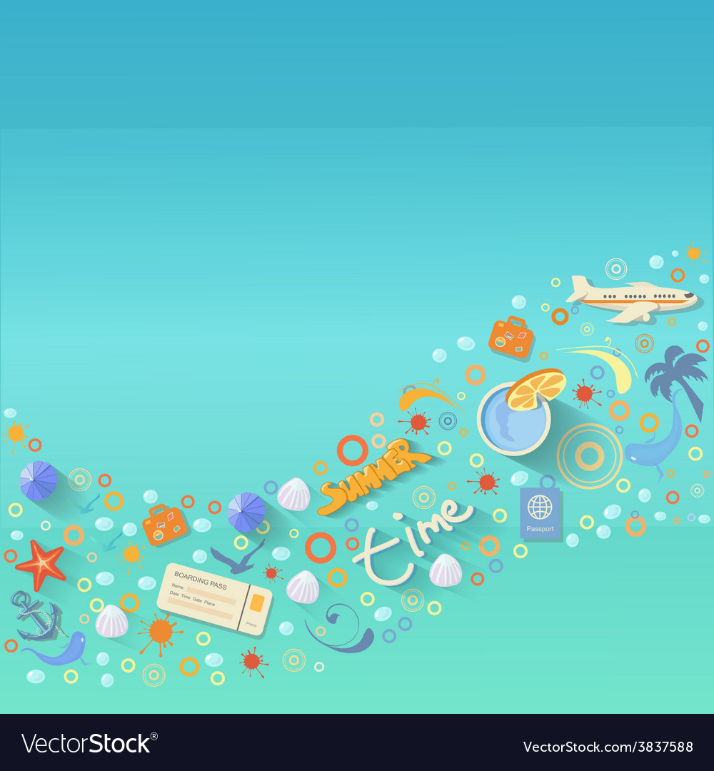 Summer vacations design vector | Price: 1 Credit (USD $1)