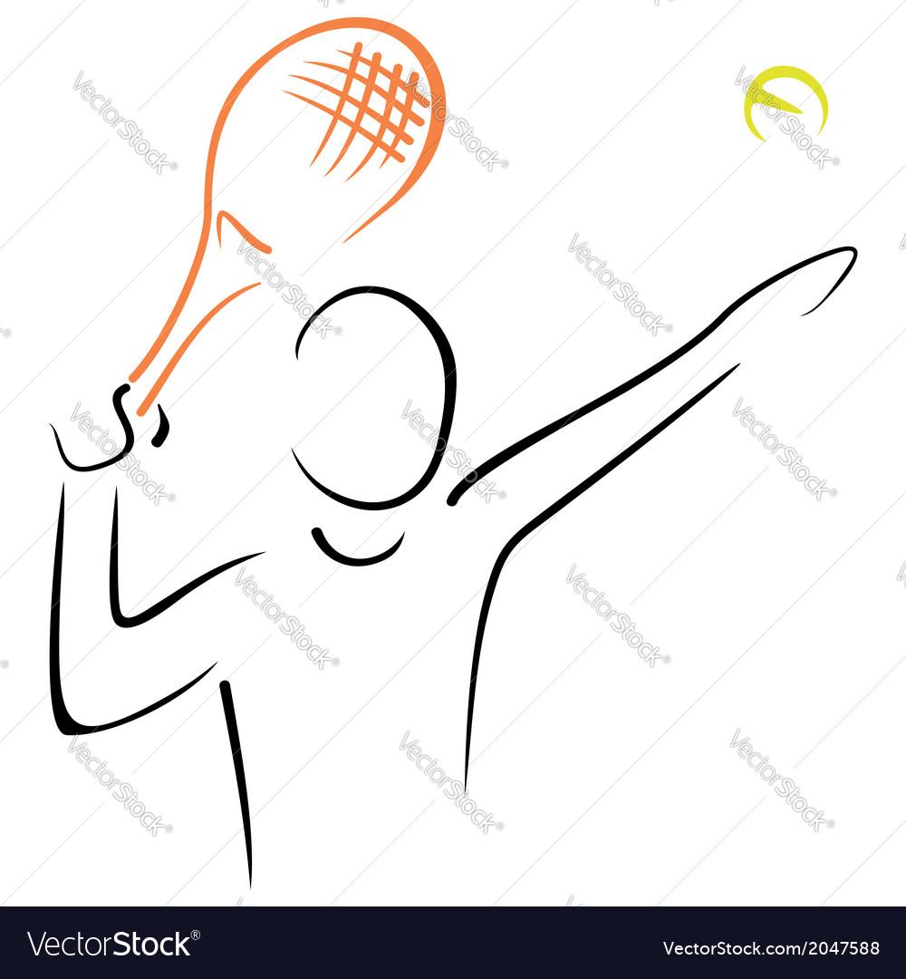 Tennis serve vector | Price: 1 Credit (USD $1)