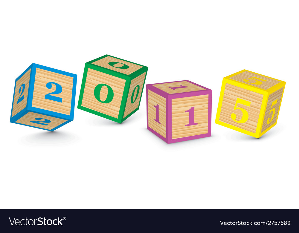 2015 made from toy blocks vector | Price: 1 Credit (USD $1)