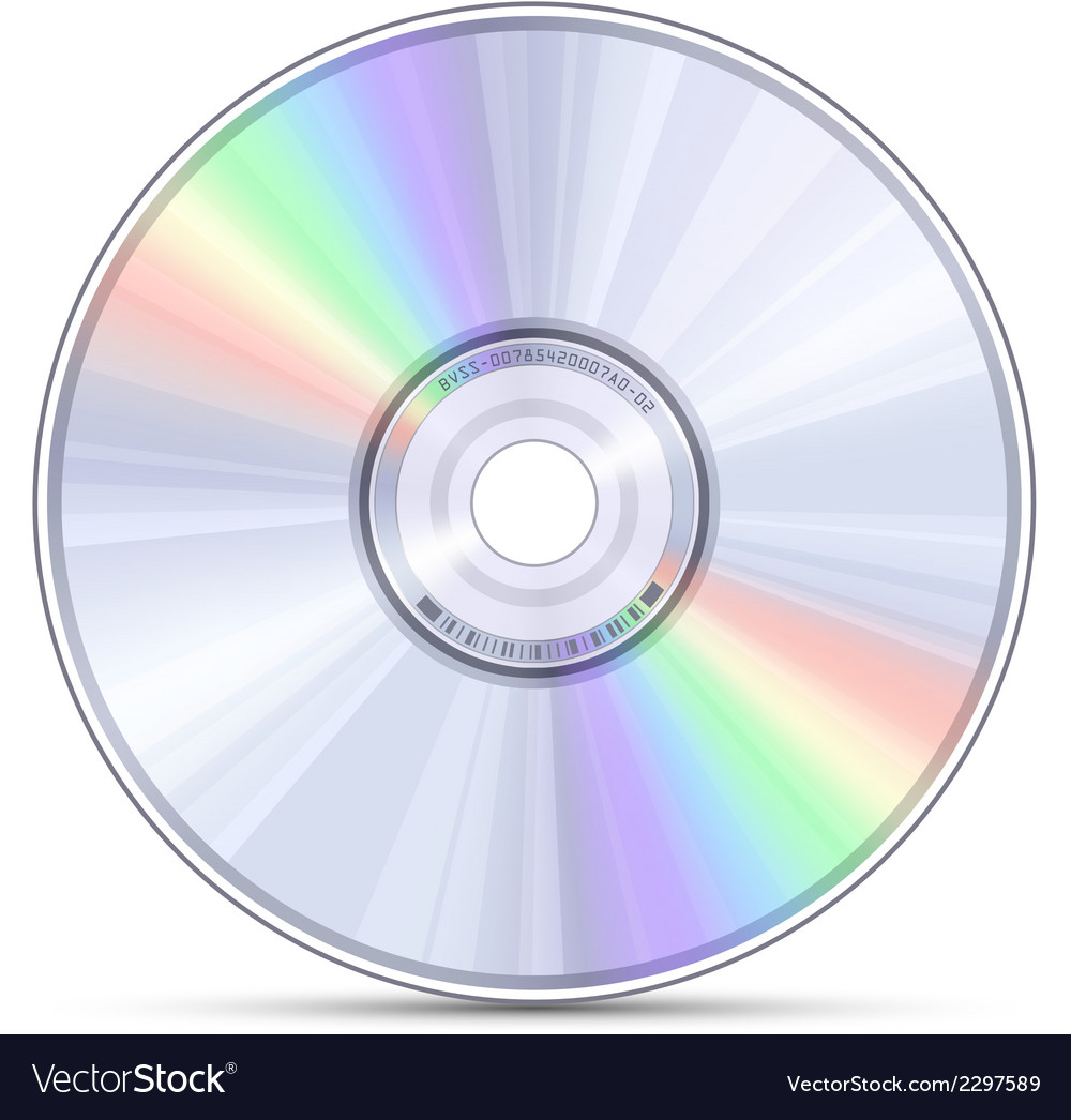 Blue-ray dvd or cd disc vector | Price: 1 Credit (USD $1)