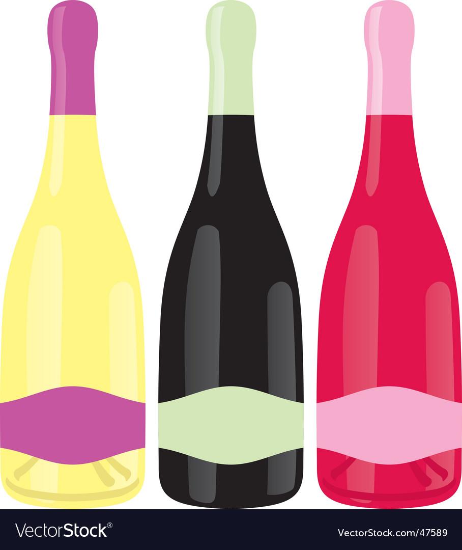 Champagne bottles set vector | Price: 1 Credit (USD $1)