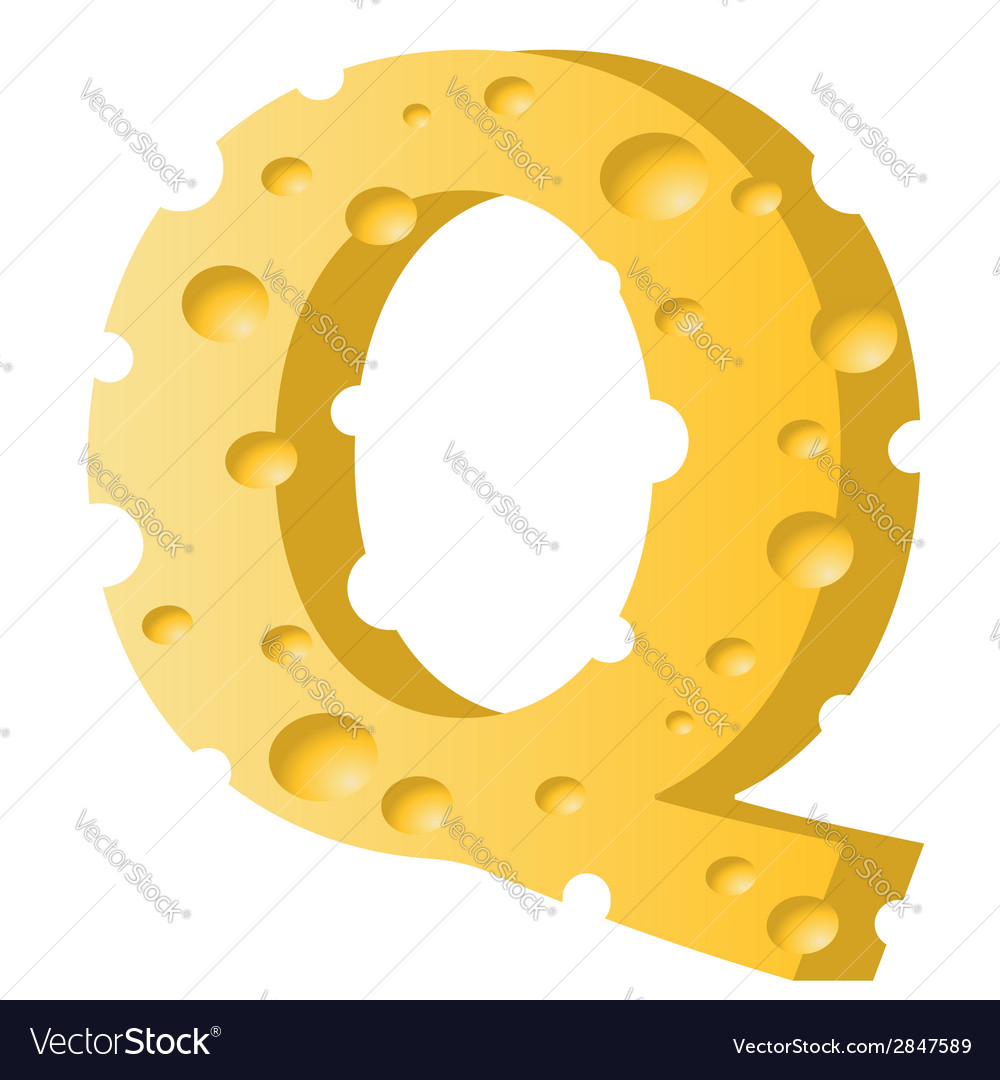Cheese letter q vector | Price: 1 Credit (USD $1)