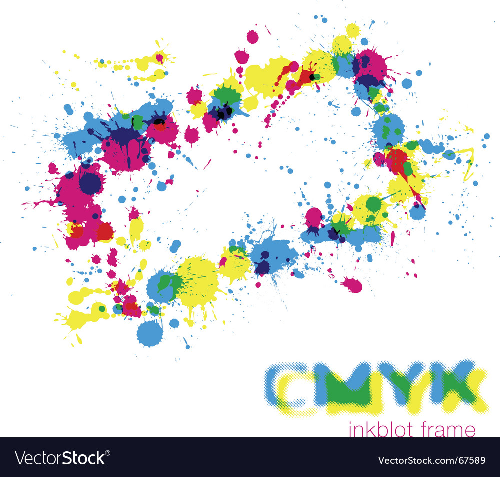 Cmyk inkblot frame vector | Price: 1 Credit (USD $1)