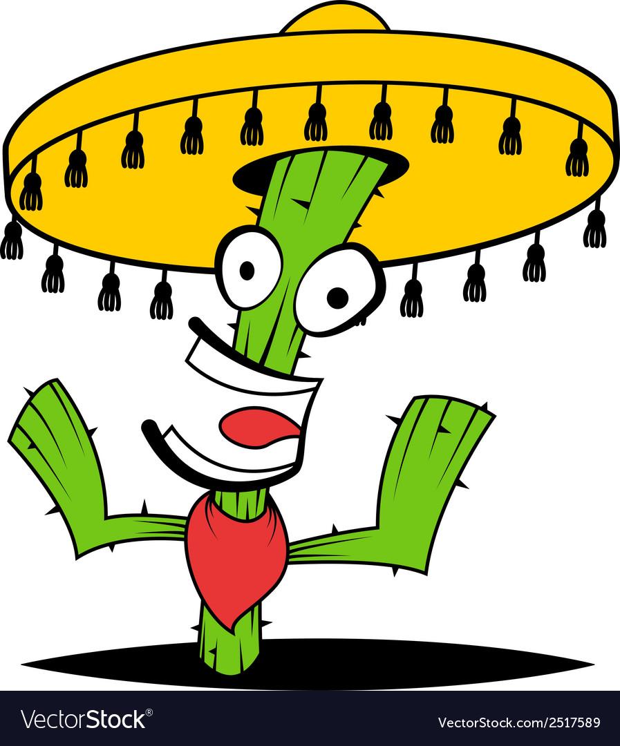 Crazy cactus vector | Price: 1 Credit (USD $1)