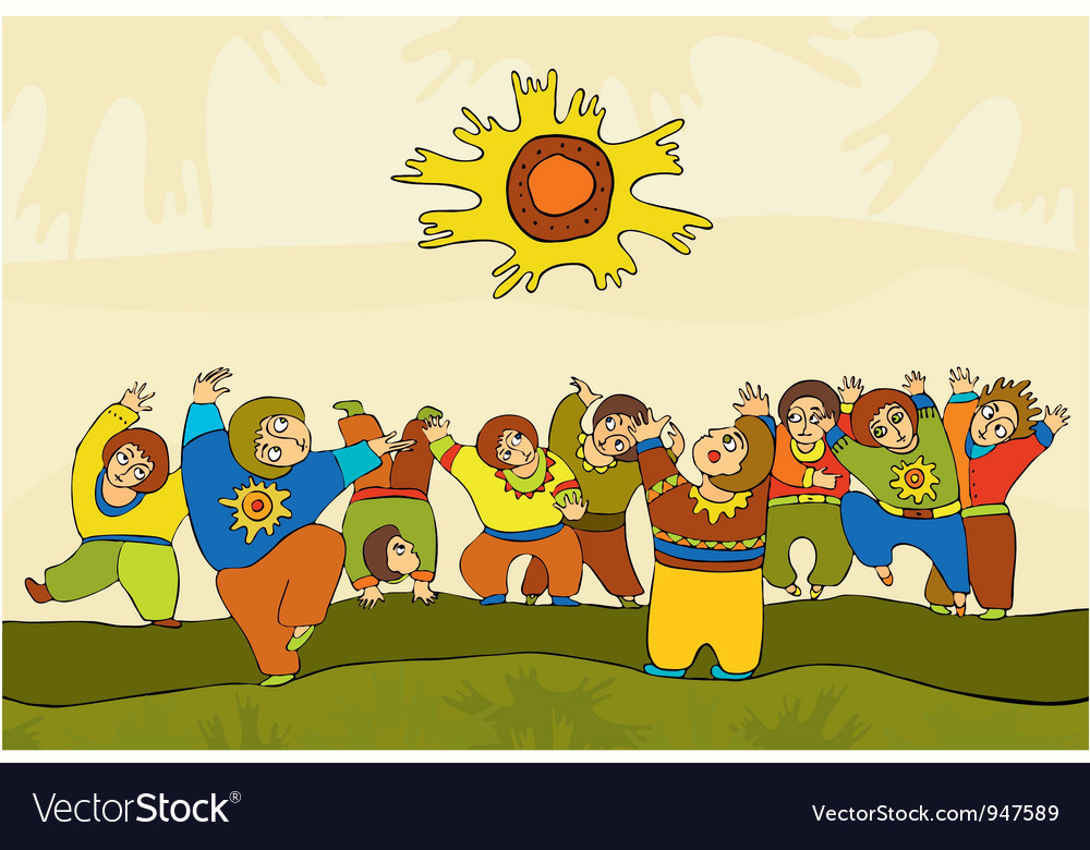 Folk dance people vector | Price: 3 Credit (USD $3)