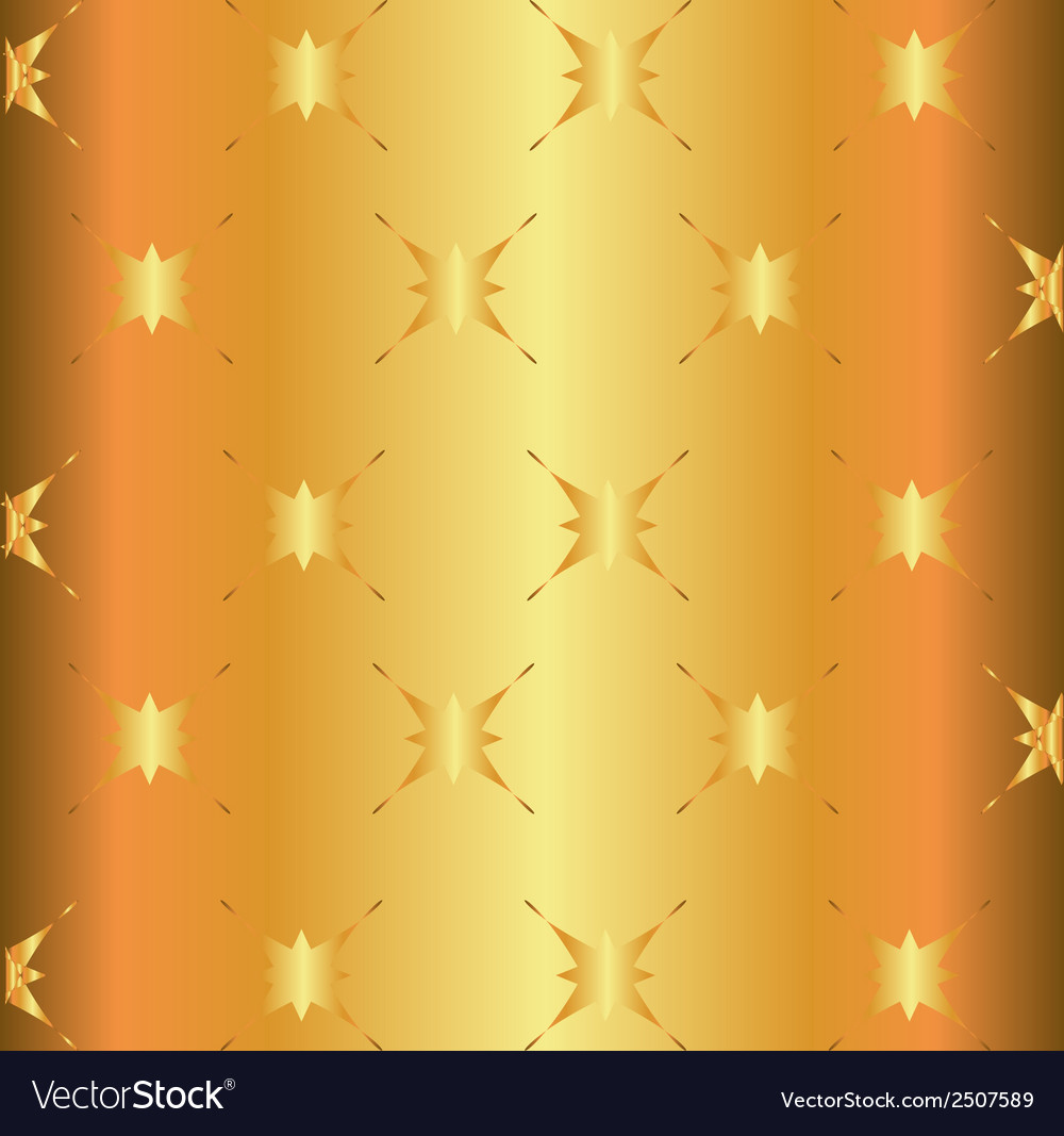 Golden star light metal surface background plate vector | Price: 1 Credit (USD $1)