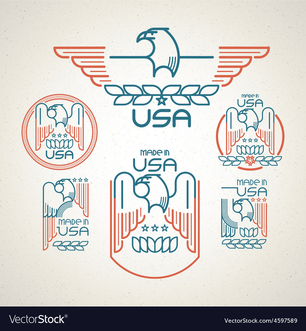 Made in the usa vector | Price: 1 Credit (USD $1)