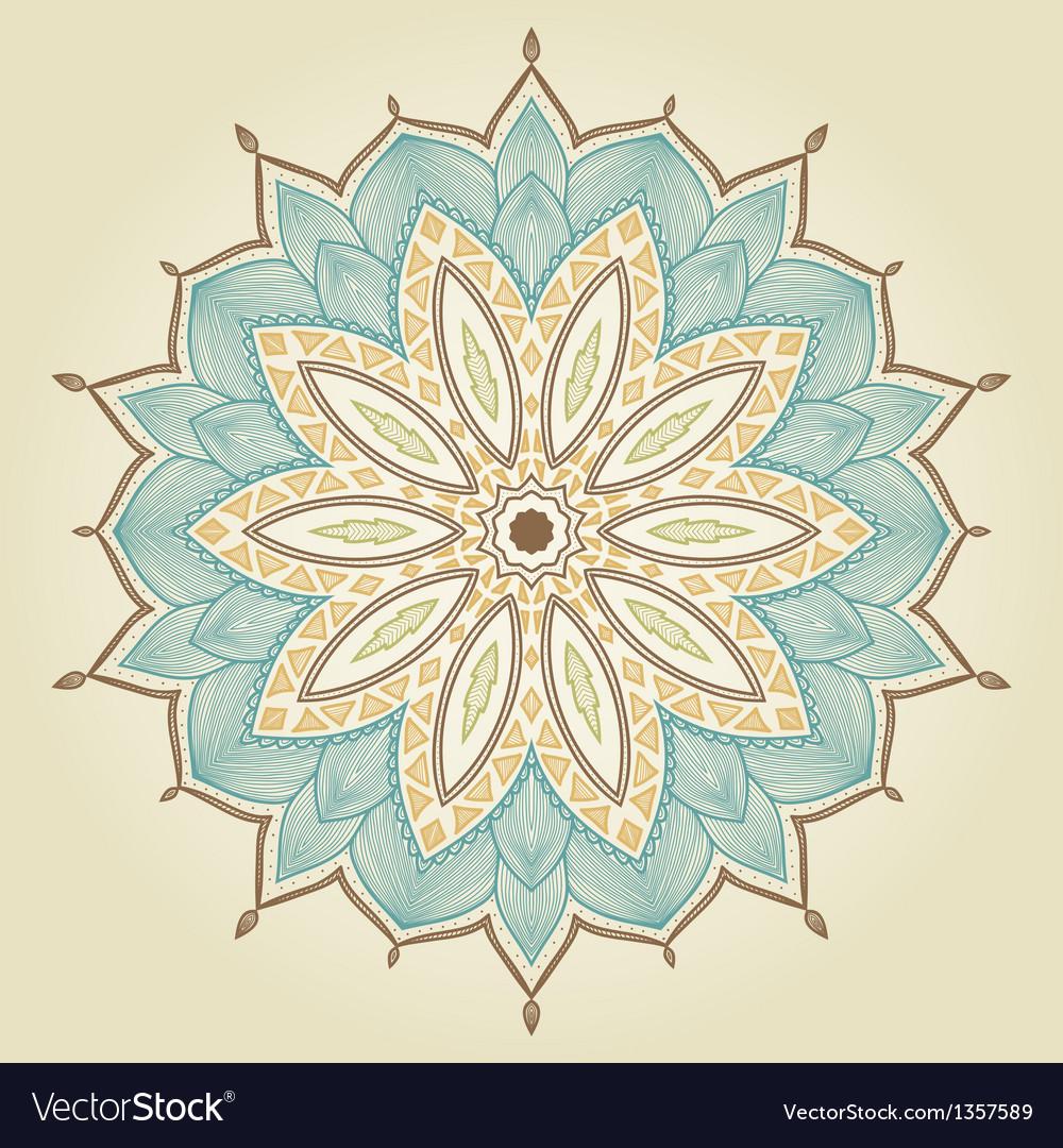 Mandala beautiful hand drawn flower vector   Price: 1 Credit (USD $1)