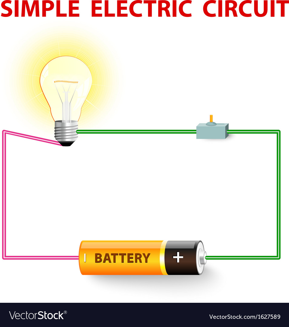 Simple electric circuit vector | Price: 1 Credit (USD $1)